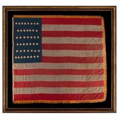 44 Star Antique American Flag with a Tall and Narrow Canton