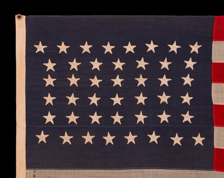 American 44 Star Flag, with Stars in a Hourglass Pattern, Wyoming Statehood, 1890-1896
