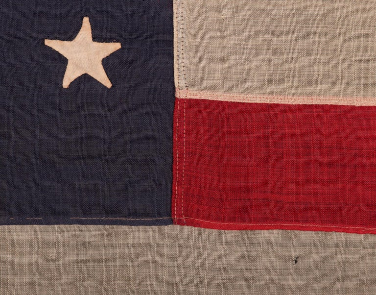 44 Star Flag, with Stars in a Hourglass Pattern, Wyoming Statehood, 1890-1896 In Good Condition In York County, PA