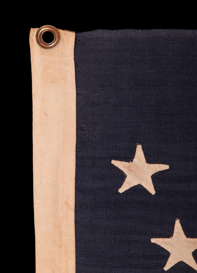 Late 19th Century 44 Star Flag, with Stars in a Hourglass Pattern, Wyoming Statehood, 1890-1896