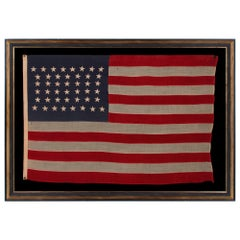 44 Star Flag, with Stars in a Hourglass Pattern, Wyoming Statehood, 1890-1896
