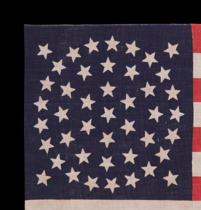 American 44 Star Parade Flag with Stars in a Wreath Configuration For Sale