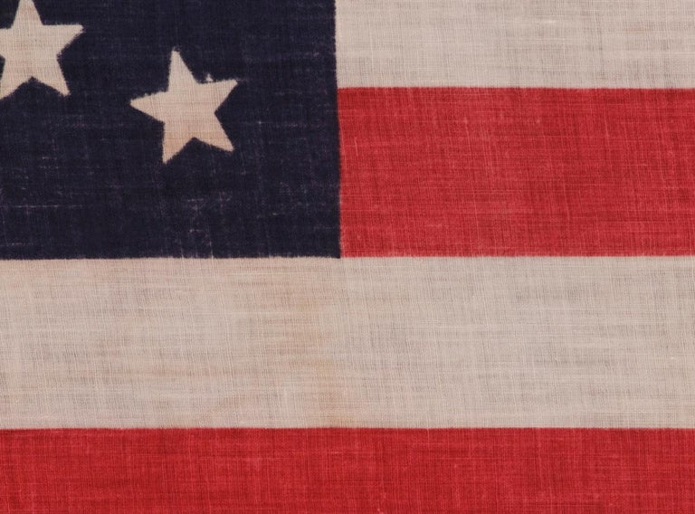 44 Star Parade Flag with Stars in a Wreath Configuration In Good Condition For Sale In York County, PA