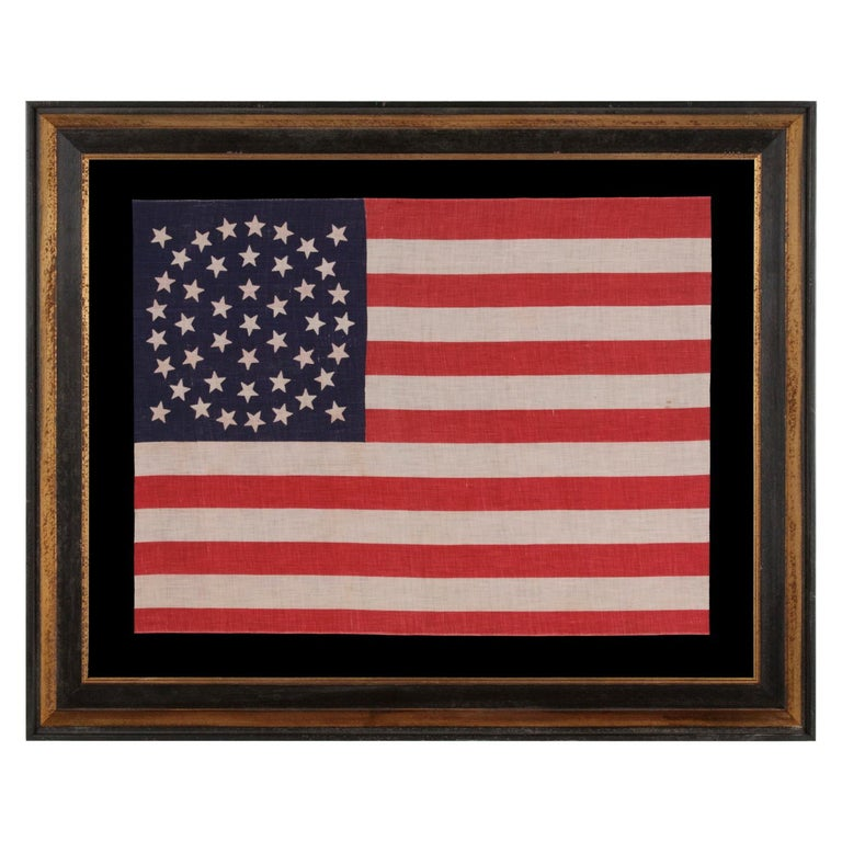 44 Star Parade Flag with Stars in a Wreath Configuration For Sale