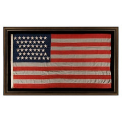 44 Stars in Zigaging Rows on an Antique Wyoming Statehood Flag, ca 1890-1896