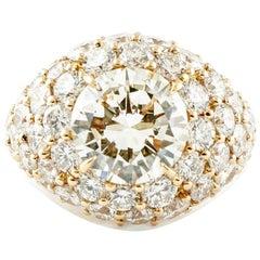 4.40 Carat Central Diamonds, 8.78 Carat Diamonds, 18 Karat Rose Gold Ring