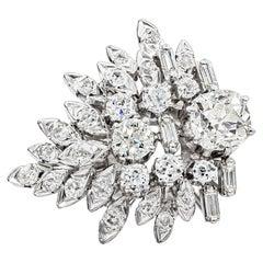 4.45 Carat Old Mine Cut and Brilliant Cut Diamond Cocktail Ring