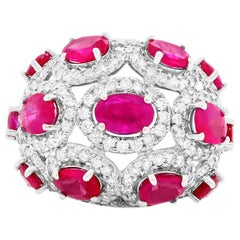 4.47 Carat Ruby and 1.50 Carat Diamond Ring