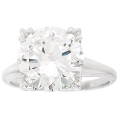 4.49 Carat F SI1 Diamond Engagement Ring Platinum GIA