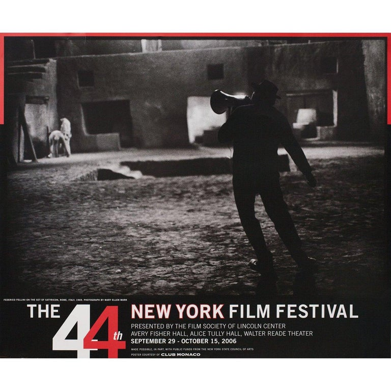 Original 2006 U.S. poster for the 1963 festival New York Film Festival. Fine condition, rolled. Please note: the size is stated in inches and the actual size can vary by an inch or more.