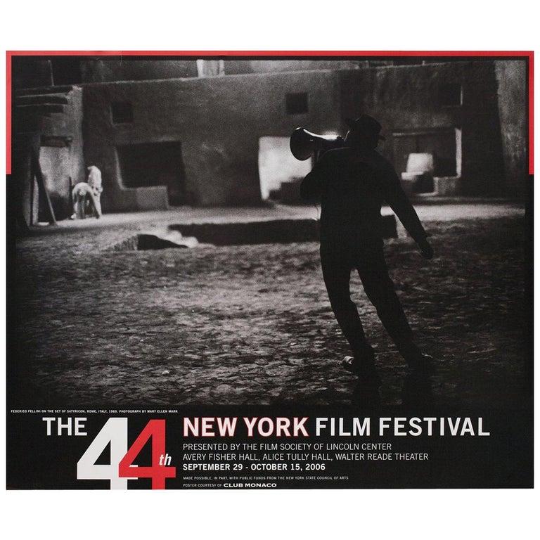 """44th New York Film Festival"" 2006 U.S. Poster For Sale"