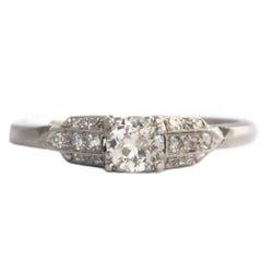 .45 Carat Diamond Platinum Engagement Ring