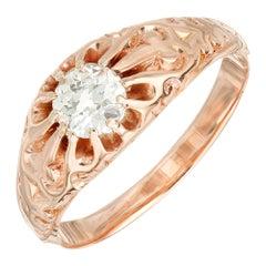 .45 Carat Old European Diamond Victorian Gold Engagement Ring