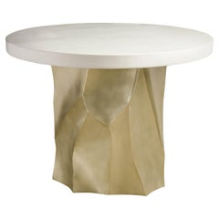 Cream Lacquer Entry Table Top by Robert Kuo, Limited Edition
