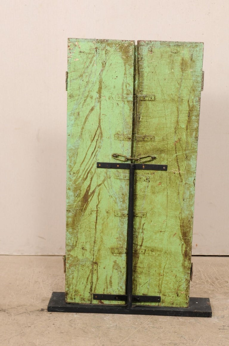 Turn of the Century Doors from India on Custom Stand For Sale 4