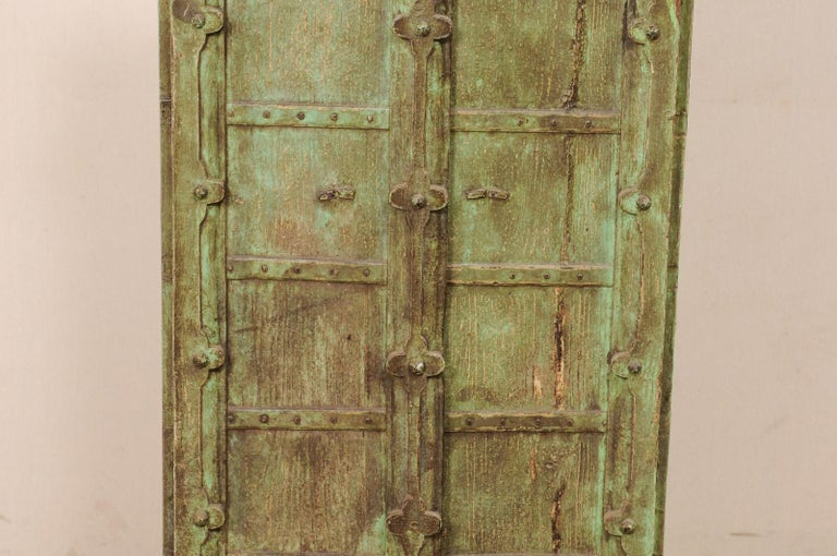 Turn of the Century Doors from India on Custom Stand In Good Condition For Sale In Atlanta, GA