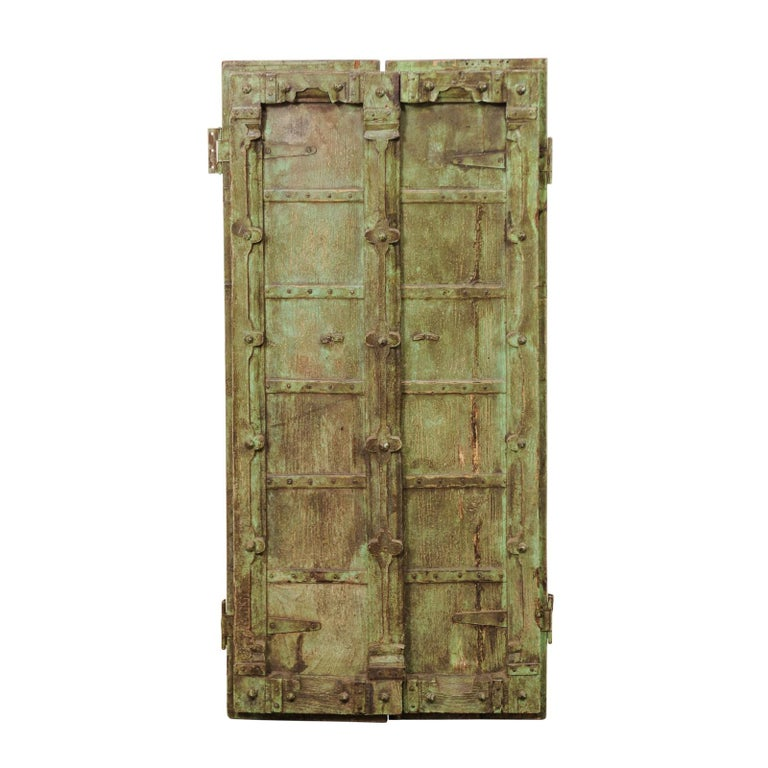 Turn of the Century Doors from India on Custom Stand For Sale