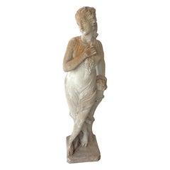 "56"" Vintage Cast Stone Neoclassical Garden Statue"