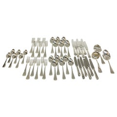 45-Pieces Dutch Silver Cutlery from the Designer Gerritsen, n.v. M.J. 1987