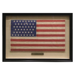 45-Star American Flag Printed on Polished Cotton