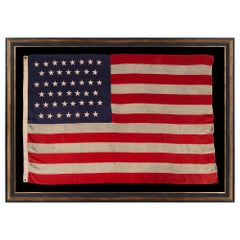 45 Star Antique American Flag, CA 1896-1908-Utah Statehood