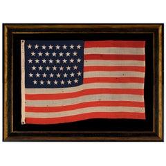 45 Star Antique American Flag, Small Scale, Utah Statehood, circa 1896-1907