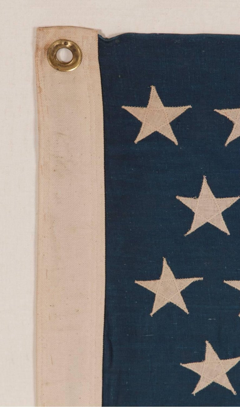45 Stars on a Attractive Denim Blue Canton, Cotton Bunting American Flag For Sale 1