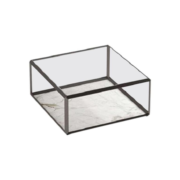 Molteni&C 45 Tavolino Coffee Table Design Ron Gilad Crystal Top For Sale