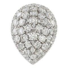 4.50 Carat Diamond 18 Karat White Gold Ring
