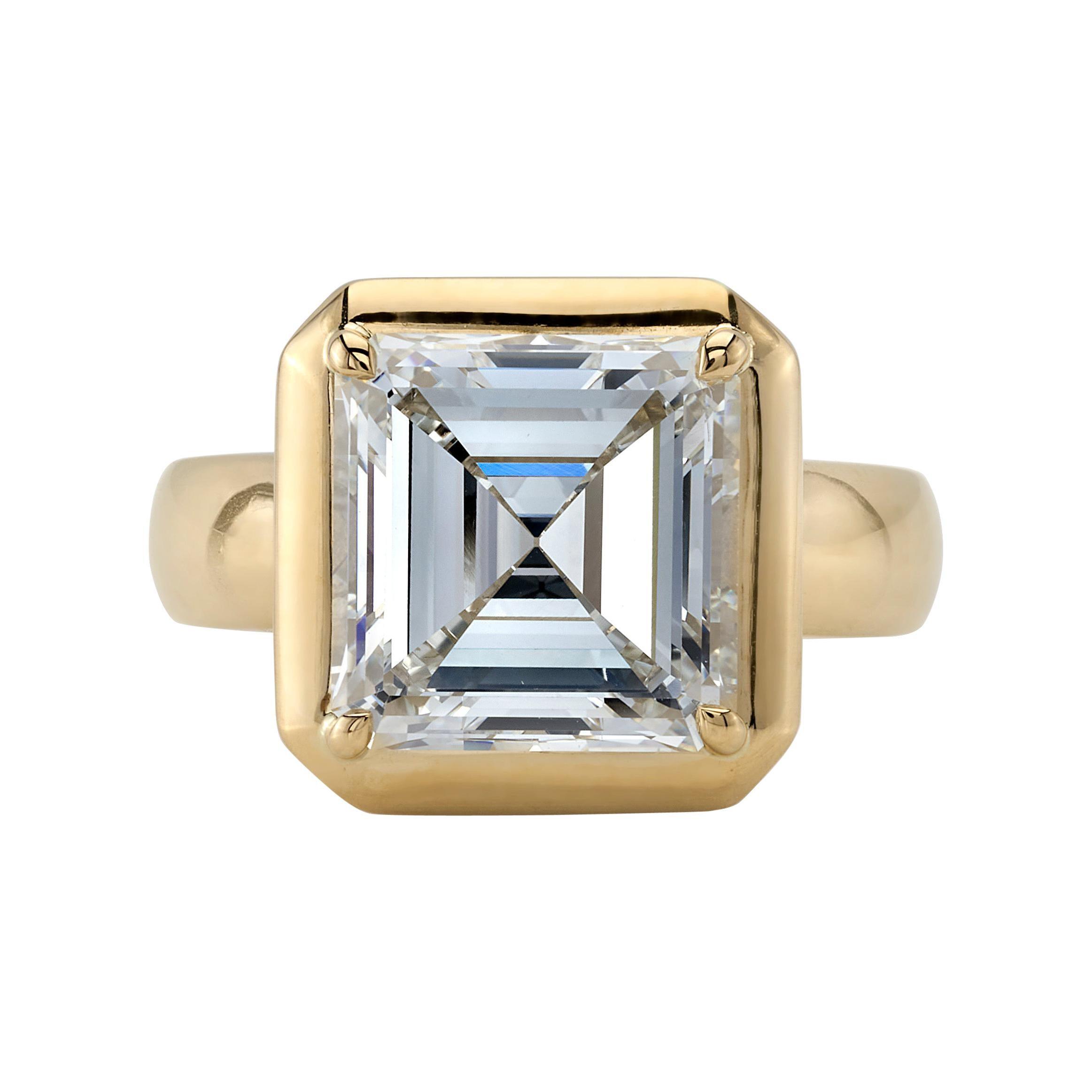 Handcrafted Cori Asscher Cut Diamond Ring by Single Stone