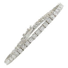 4.52 Carat Diamond 18 Karat White Gold Bracelet