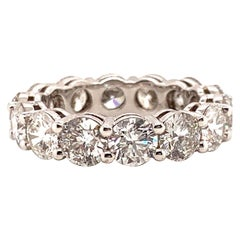 4.52 Carat Round Brilliant Cut Diamond Eternity Band