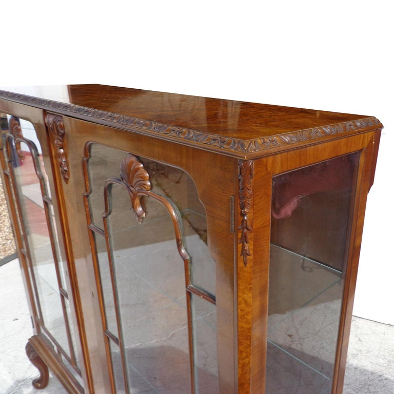 European Art Deco Display Curio Cabinet For Sale