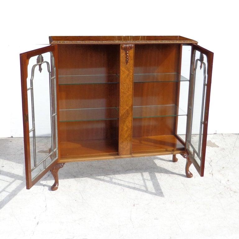 Appliqué Art Deco Display Curio Cabinet For Sale