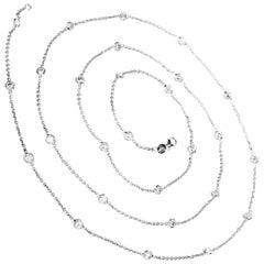 4.55 Carat Diamonds by The Yard 14 Karat Gold Chain Necklace