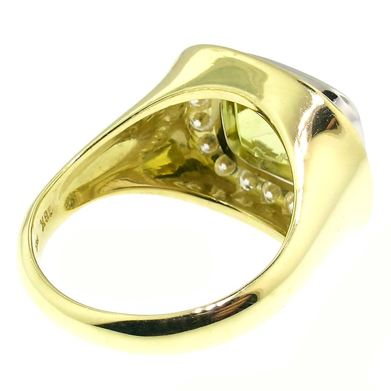 Cynthia Scott 4.57 carat Canary Yellow Tourmaline Aphrodite Ring, GIA Report In New Condition For Sale In Logan, UT