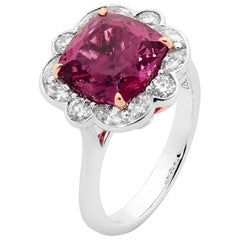 4.58 Carat Tourmaline and Diamond Dress Ring