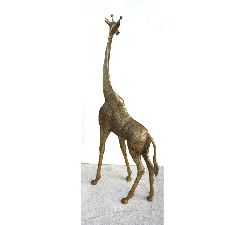 Brass Giraffe In Good Condition For Sale In Pasadena, TX