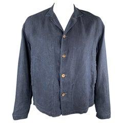 45rpm Size L Indigo Blue Linen Cropped Jacket