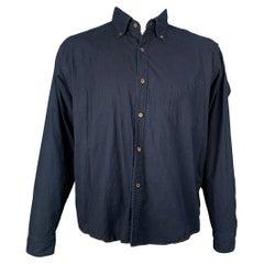 45rpm Size XL Indigo Cotton Button Down Long Sleeve Shirt