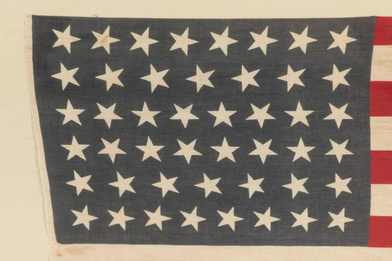 Folk Art 46 Star American Flag Linear Dancing Stars For Sale
