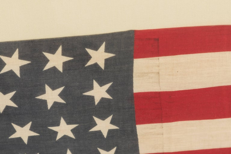 Early 20th Century 46 Star American Flag Linear Dancing Stars For Sale