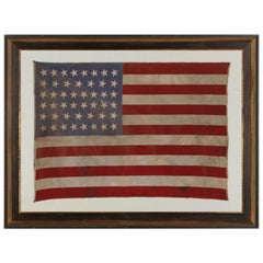 46 Star Antique American Flag, , Oklahoma Statehood, circa 1907-1912