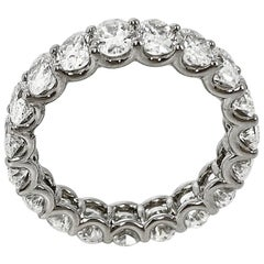 4.60 Carat Oval Cut Diamond Eternity Band