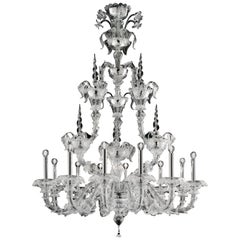 4604 12 Chandelier in Murano Glass, by Barovier&Toso
