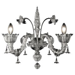 4607 02 Wall Scone in Crystal Glass, by Barovier&Toso
