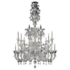 4607 20 Chandelier in Crystal Glass, by Barovier&Toso