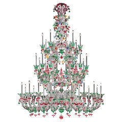 4607 36 Chandelier in Crystal Glass, by Barovier&Toso