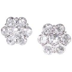 4.61 Carat Rose Cut Diamond Twin Ring