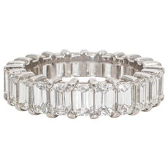 4.61 Carat VVS1-VVS2 Emerald Cut Eternity Band